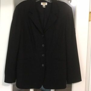 Talbots black 4 button blazer